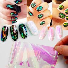 Holographic Foil Polish Translated Nail Transfer Foil for Manicure ...