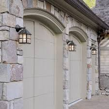 cottage outdoor lighting. Three Cottage™ Exterior Wall Lights Providing Garage Lighting Cottage Outdoor