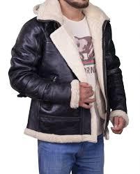 men b3 er hooded fur jacket