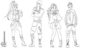Coloring Pages Descendants Coloring Page Printable The Pages Mal