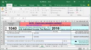 tax preparation checklist excel how to use excel to file form 1040 and related schedules for 2016