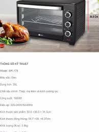 Lò nướng điện Mishio MK179 35L – 1600W