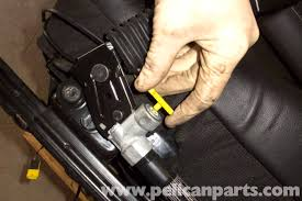 bmw z3 front seat removing and buckle replacement 1996 2002 E46 Seat Belt Pretensioner Wiring Harness with seat on floor, disconnect seat belt pre tensioner electrical connector by pulling it Seat Belt Pretensioner Parts
