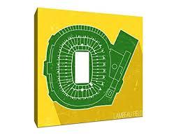 Amazon Com Lambeau Field Football Seating Map 24x24