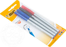 Купить <b>Ручка шариковая Bic Round</b> Stic Exact 3 цвета 4шт с ...