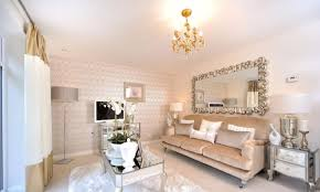 Interior Designed Living Room Using Soft Blush Pink  Mink And Mink Living Room Decor
