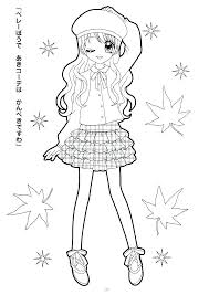 American Girl Doll Coloring Pages Julie Girl Doll Coloring Page Girl