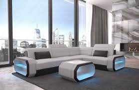 sectional couches. Modern Sectional Sofa Seattle LED Lights - Fabric Mineva 2 Couches L
