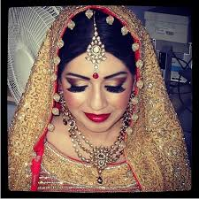 clown cheeks indian bride glitter bridal makeup