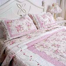 Shabby Chic Pink Patchwork Quilt Rose Quilted Bedding Bedroom ... & shabby chic pink patchwork quilt rose quilted bedding bedroom simply  chenille bedrooms Adamdwight.com