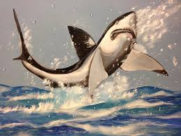 great white shark painting. Plain Great Great Painting  White Shark By Biren With P