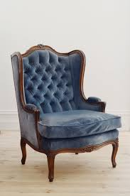 Vintage blue wingback chair LILY BRAMWELL