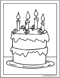 Small Picture Book Birthday Coloring CandleBirthdayPrintable Coloring Pages