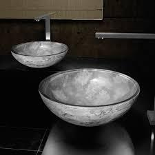 gray vessel sink. Brilliant Gray ATELIER LUNA 44 GREY  Dual Textured Bathroom Vessel Sink To Gray V