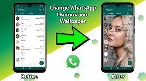 Change WhatsApp Home Screen Wallpaper ...