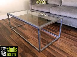 Industrial Glass Coffee Table Steel And Glass Coffee Table Skulls Industrial