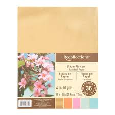 Cardstock Paper Flower Find The Paper Flower Cardstock Paper By Recollections At Michaels