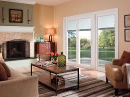 pella 350 series sliding patio doors traditional living room