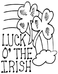 Luck Of The Irish Coloring Page