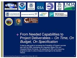 Navsea Organization Chart 2014 From Needed Capabilities To Project Deliverables On Time
