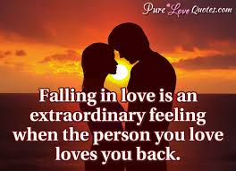 Quotes About Falling In Love Adorable Falling In Love Is An Extraordinary Feeling When The Person You Love