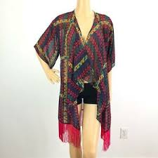 Details About Lularoe Monroe Kimono Womens Size Small 6 8 Pink Multicolor Nwt