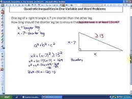 9 2 part 2 lesson 1 word problems and quadratic inequalities on one variable
