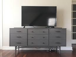 dresser with tv mount. Interesting Dresser HowToHideTVWiresTVOnDresser For Dresser With Tv Mount R
