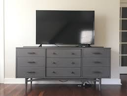 how to hide tv wires tv on dresser