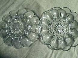 clear glass dish set plate deviled egg of 2 eggs red dinnerware sets square
