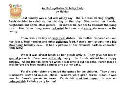 star compositions a birthday party check out the adjectives  5