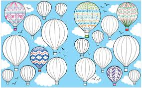 hot air baloons from the usborne big book of drawing