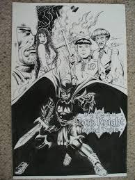 batman dark knight of the round table presentation art comic art