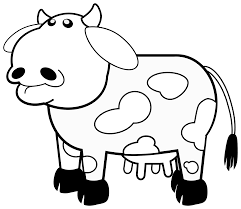 cow clipart black and white.  Black White Clip Art On Cow Clipart Black And