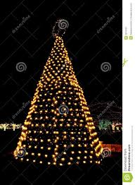 White Lighted Christmas Trees Outdoors Outdoor Christmas Tree Lights Stock Photo Image Of Gold