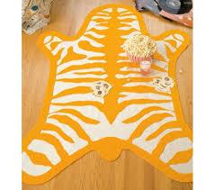 diy wednesday felt faux zebra skin rug