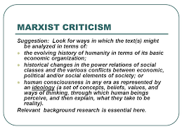 an overview of some critical approaches for literary essays how  10 marxist criticism