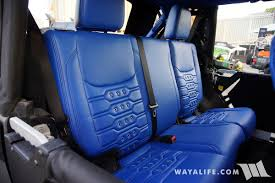 for the 2017 sema show i came across the jeep they brought out with them by chance and as it would seem they are now pushing leather seats and interior