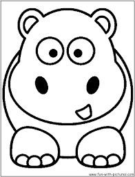 Free Coloring Pages Of Hippo Face Hippopotamus Coloring Pages