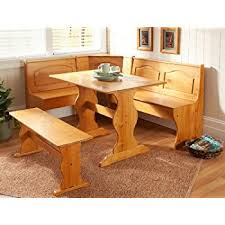 corner dining room furniture. Essential Home Emily Breakfast Nook Kitchen Solid Wood Corner Dining Set Table Bench Chair Room Furniture