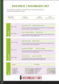 Reference Templates Combination Resume Template 2017 Advertising