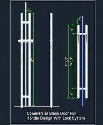 glass door pull handle design autocad