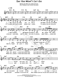 say you won t let go sheet music