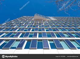exterior office. Modern Eco Office Building Exterior Solar Panels Its Facade \u2014 Stock Photo E