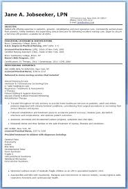 Free Lpn Resume Templates Enchanting Lpn Resume Template Yomm