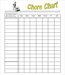 Chore Chart For Kids 7 Free Pdf Documents Download Free