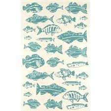 fish area rug fish themed area rugs veranda beige blue fish themed handmade indoor outdoor area fish area rug