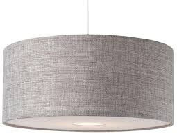 bnwt modern grey textured large drum diffuser ceiling light shade red drum lamp shade