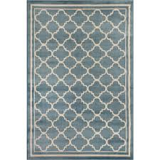 world rug gallery trellis contemporary modern design blue 3 ft x 5 ft indoor