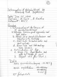 Lab Notebook Example Indu P Christopherson Lab Procedure Sentence Format
